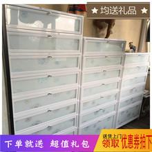 户外防bj防晒铝合金ou易不锈钢鞋柜架阳台室外大容量家用鞋柜