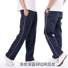 春夏季cz裤子男女薄dl深蓝高中校裤女宽松裤