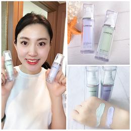 韩国专柜正品兰芝雪纱隔离霜30ml妆前乳紫色绿色保湿底妆隐形毛孔