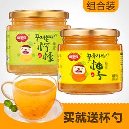 福事多蜂蜜柚子茶柠檬茶1Kg泡水喝的饮品 冲饮冲泡水果茶花果茶酱