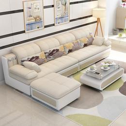 百纯家具 小户型布艺沙发转角可拆洗三人套装沙发客厅整装组合