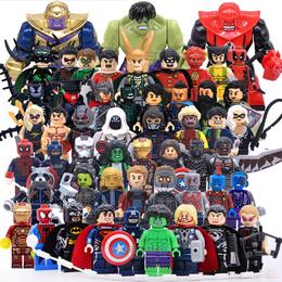 漫威复仇者联盟超级英雄X战警人仔偶兼容乐高反浩克拼装积木玩具