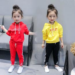 2018新款童装女童春装洋气套装韩版儿童衣服宝宝运动卫衣两件套潮