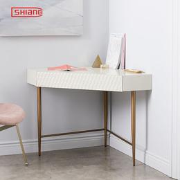 北欧现代简约迷你小户型梳妆台白色烤漆卧室化妆桌 三角边几
