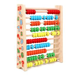 儿童算数教具计算架启蒙早教数学玩具幼儿园木质珠算架益智计数器