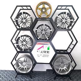 汽车轮毂展示架金属轮毂架钢铃展架六边形胎铃展示架轮胎货架展架