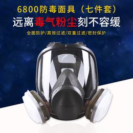 3M6800防毒面具防毒口罩/防甲醛喷漆化工/气体工业粉尘防护全面罩