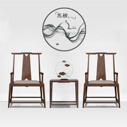 新中式禅意太师椅实木单人洽谈椅休闲客厅靠椅凳子现代简约定制
