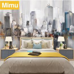北欧艺术壁纸电视背景墙简约现代客厅卧室工业风3d壁画个性定制做