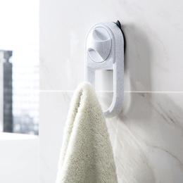 瓷砖免打孔吸盘挂钩浴室墙上壁挂衣服挂架厨房墙壁挂勾强力挂衣钩