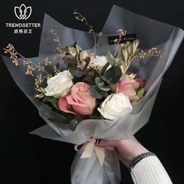 雾面纸花束玫瑰花包装纸花艺鲜花包装纸韩国进口防水包花材料批发