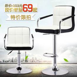 欧式酒吧椅升降吧台凳现代简约吧椅吧凳靠背高脚凳子旋转收银椅子