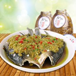 贺福记鱼头剁椒剁辣椒230g*4瓶湖南特产辣椒调料蒸鱼