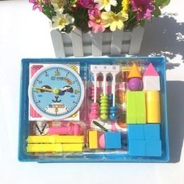 学具盒 一年级  同步小棒几何体时钟计数器教具小学套装数学
