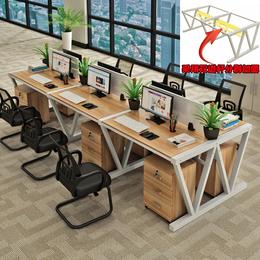 新款包邮职员办公桌4人位桌椅组合246人简约现代电脑桌屏风卡位