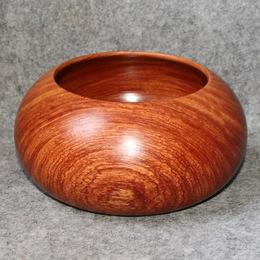 清仓特价 缅甸花梨木 天然整木挖制扁胖罐 红木收纳罐/杂物罐子