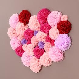 菲寻创意婚房装饰拉花新房背景墙道具套装婚礼生日布置用品纸花球