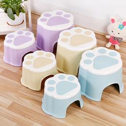 塑料卡通小凳子家用成人圆凳加厚换鞋板凳可爱儿童凳宝宝脚凳矮凳