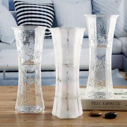 养富贵竹子的花瓶简约干花百合玻璃花瓶摆件透明客厅水培插花大号