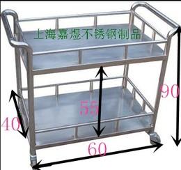 304不锈钢双层推车防静电推车平板车周转车工具车小货车拖车围网