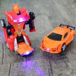 儿童电动万向汽车玩具1-2-3-5岁男孩变形金刚机器人兰博基尼赛车