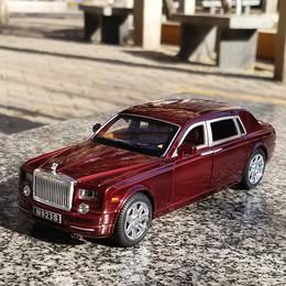 1:28劳斯莱斯车模六开门汽车模型仿真合金车玩具回力车惯性小汽车