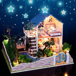 弘达diy小屋大型手工制作房子拼装模型别墅创意礼物女孩玩具艺术