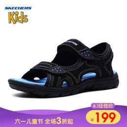 Skechers斯凯奇男童鞋新款轻质休闲凉鞋 防滑耐磨沙滩鞋 92219L