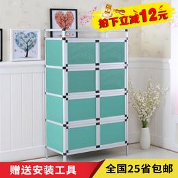 简易厨房柜碗柜不锈钢灶台餐边柜收纳柜茶水柜橱柜储物柜微波炉架