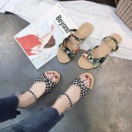 日系甜美夏季新款蝴蝶结百搭学生一鞋两穿凉鞋女鞋平底舒适森林系