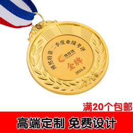 金属奖牌定做定制足球篮球羽毛球比赛奖牌运动会奖章通用金银铜牌