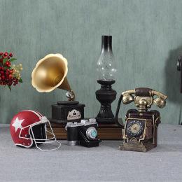 欧式怀旧复古摆件留声机美式创意家居客厅咖啡厅餐厅酒柜装饰品