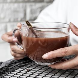 舍里 加厚玻璃燕麦牛奶早餐杯子大号酸奶杯咖啡杯奶茶杯大肚水杯