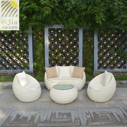 户外藤沙发组合庭院阳台沙发仿藤桌椅三人位客厅创意圆形室外组合