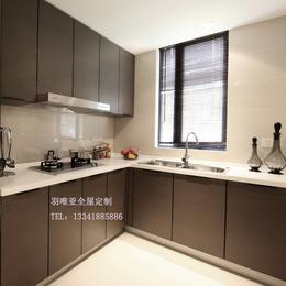 厨柜定做整体厨柜现代简约爱格门板定制定做石英石台面开放式厨房