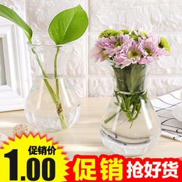 玻璃花瓶家居小清新透明水栽植物花盆干花插花摆件水培容器装饰品