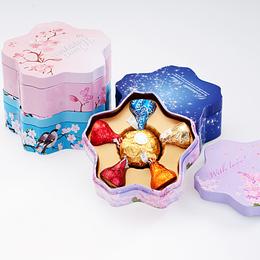 好时之吻水滴巧克力喜糖礼盒装6粒成品含糖结婚订婚婚庆糖果批发