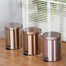 不锈钢垃圾桶脚踏欧式时尚创意家用卫生间厨房客厅办公室酒店大号