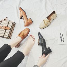 春季单鞋女粗跟2018新款女鞋英伦风软妹小皮鞋学生原宿休闲乐福鞋