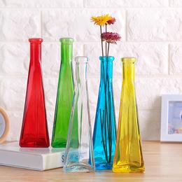 插花小花瓶干花水培植物玻璃瓶客厅创意装饰工艺品摆件透明瓶子