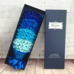 仿真玫瑰香皂花束礼盒送女友送闺蜜生日礼物创意肥皂花礼品