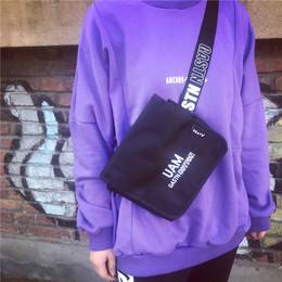 原宿字母肩带多用斜挎包腰包女2017新款潮 韩版个性时尚学生潮包