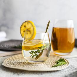 舍里 耐热大肚慕斯酸奶玻璃杯夏季清凉冷饮杯水杯甜品杯茶杯酒杯