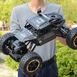 男孩超大合金遥控越野车四驱充电动高速攀爬大脚赛车儿童玩具汽车