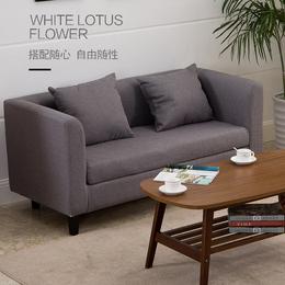 实木单双人布艺沙发咖啡厅卡座网吧沙发椅小户型沙发单人北欧沙发