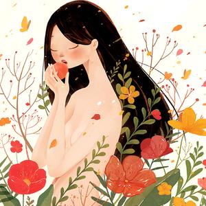 国外插画kaa水彩可爱卡通动物人物装饰插画画芯手绘临摹素材102张
