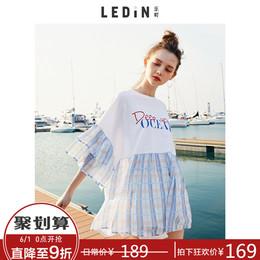 拼接短袖宽松t恤夏装2018春季新款女夏季休闲学生韩版衣服打底衫