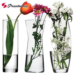 土耳其进口帕莎创意玻璃花瓶透明客厅百合插花瓶装饰工艺品摆件