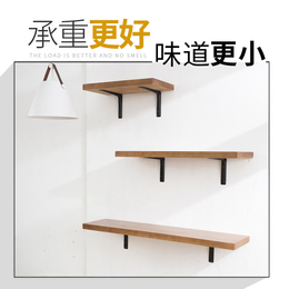 墙上墙壁实木一字隔板厨房置物架壁挂挂墙置物架实木置物板搁板