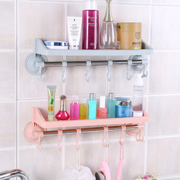 浴室吸盘式置物架免打孔无痕壁挂厨房收纳架子卫生间整理架毛巾架